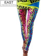 EAST KNITTING A55 FREE SHIPPING 2013 FASHION women s sex lady pants neon Leopard striped high