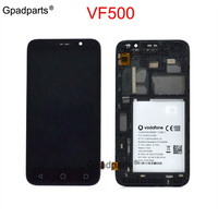 Gpadparts For Vodafone Smart Turbo 7 500 VFD500 VF500 vfd500 LCD Screen Display Touch Screen Digitizer with frame assembly