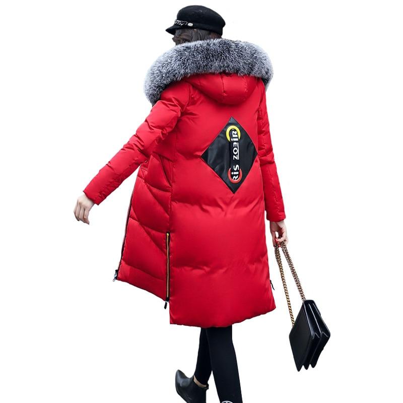 2017 Winter Women Hooded Coat Fur Collar Thicken Warm Long Jacket Female Plus Size 3XL Outerwear Parka Chaqueta Feminino C3494 nice fur collar women winter thicken warm coat hooded long parka female outerwear slim jacket chaqueta feminino plus size 4xl