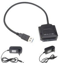 Высокое качество USB 3.0 на SATA Кабель-адаптер для 2.5 «SSD HDD 3.5 inch HDD жесткий диск данных с нами 12 В 2A AC DC Адаптеры питания
