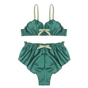 Image 4 - ผู้หญิงเซ็กซี่ bralette กางเกงชุดนอนชุด Wireless ชุดชั้นในสุภาพสตรีชุดชั้นในแฟชั่นสามเหลี่ยมบาง Pad intimates
