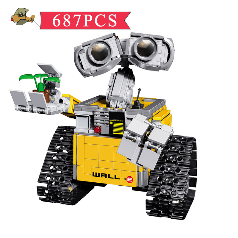 Model Building Blocks Toy Idea Robot WALL E Assembled set DIY Classic Children Building Bricks Educational Toys Gift Bei Fen self assembled diy electronic boxing fighter robot building blocks toys for children kids gift assembly educational puzzle toy