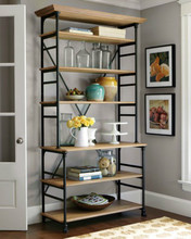 New listing 2014 American country to do the old wrought iron wood multilayer wood clapboard living room bookcase shelf Direct