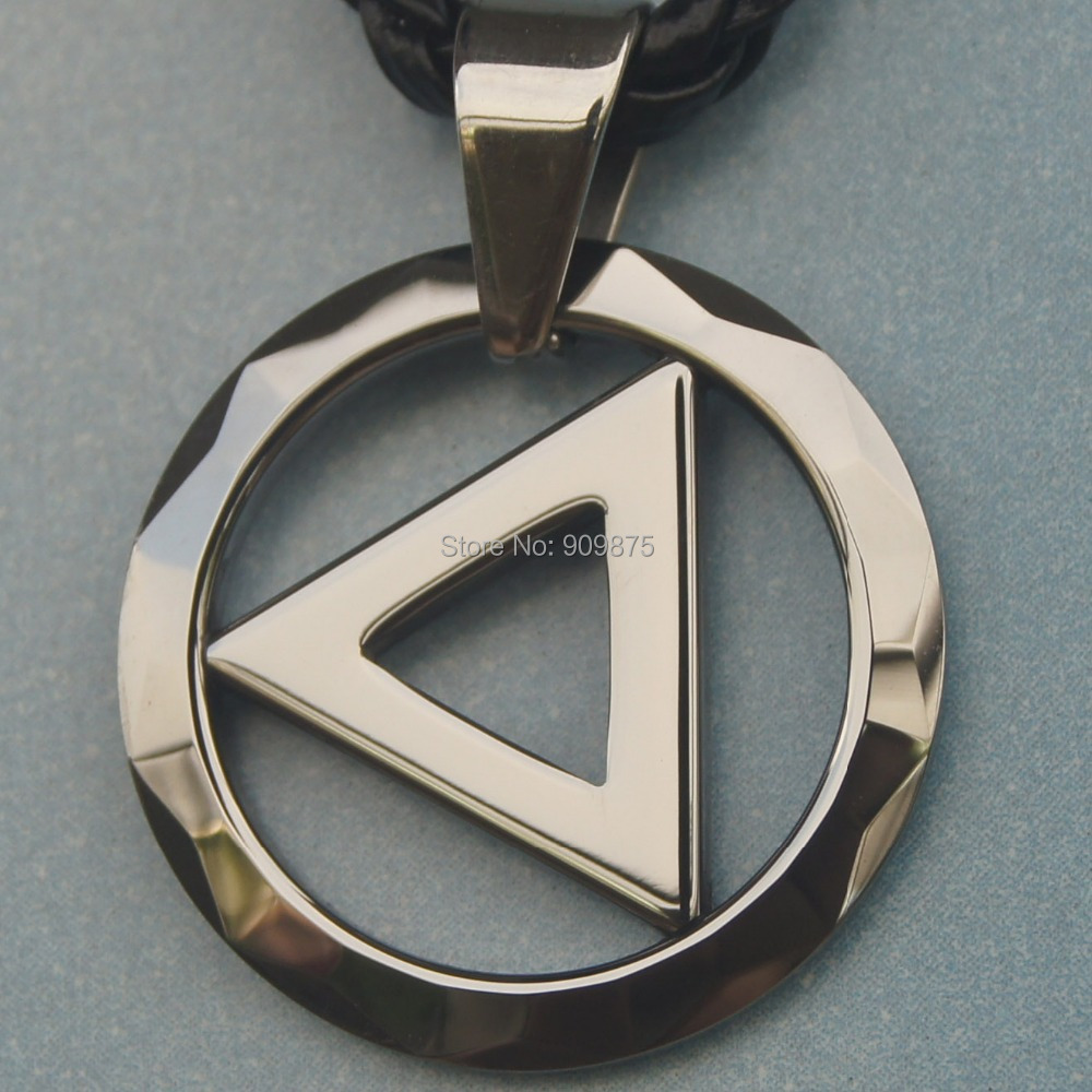 men jewelry round facet hi-tech scratch proof tungsten necklaces & pendants