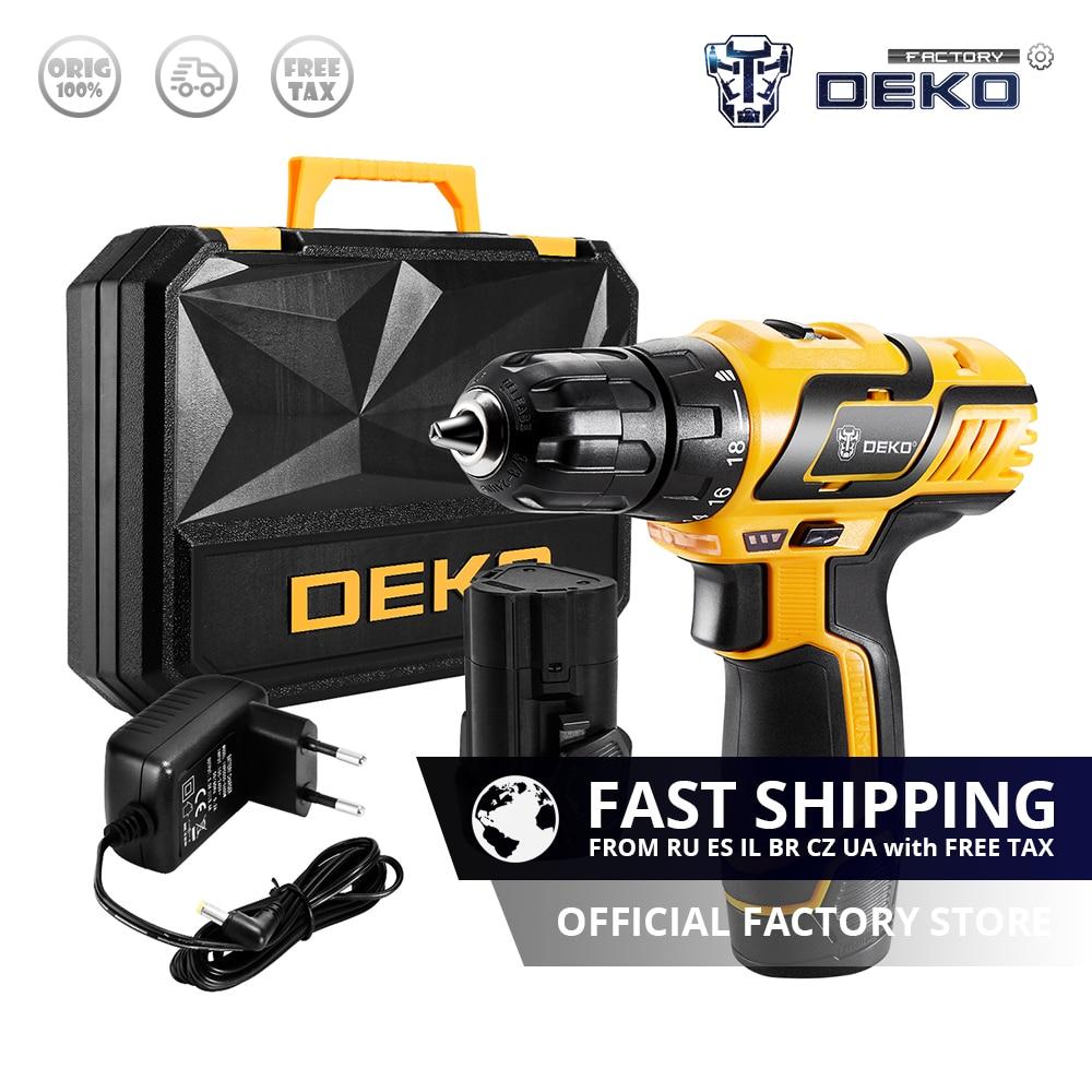 Factory Outlet DEKO GCD10 8DU3 10 8 Volt Electric Screwdriver Cordless Drill Mini Wireless Power Driver