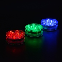 Rgb светодиодные лампы Водонепроницаемый IP68 rgb светодиодные лампочки 3AAA Батарея SMD5050 несколько Цвет Дистанционное управление RGB лампада привело к Новогодние товары