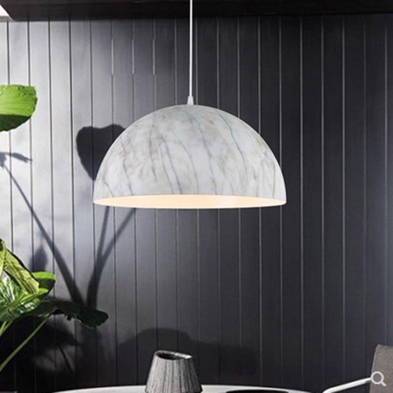 Moderen kratek aluminij iz lesa in marmorja, obesek Luč Unikatna - Notranja razsvetljava - Fotografija 4