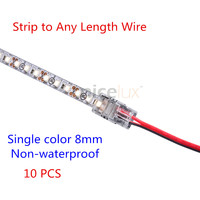 2017 brand new hippo mstrip to wire shop cheap 2017 brand new 10pcs 2pin 8mm non waterproof ip20 led strip connector tape light connector for 3528 strip aloadofball Image collections