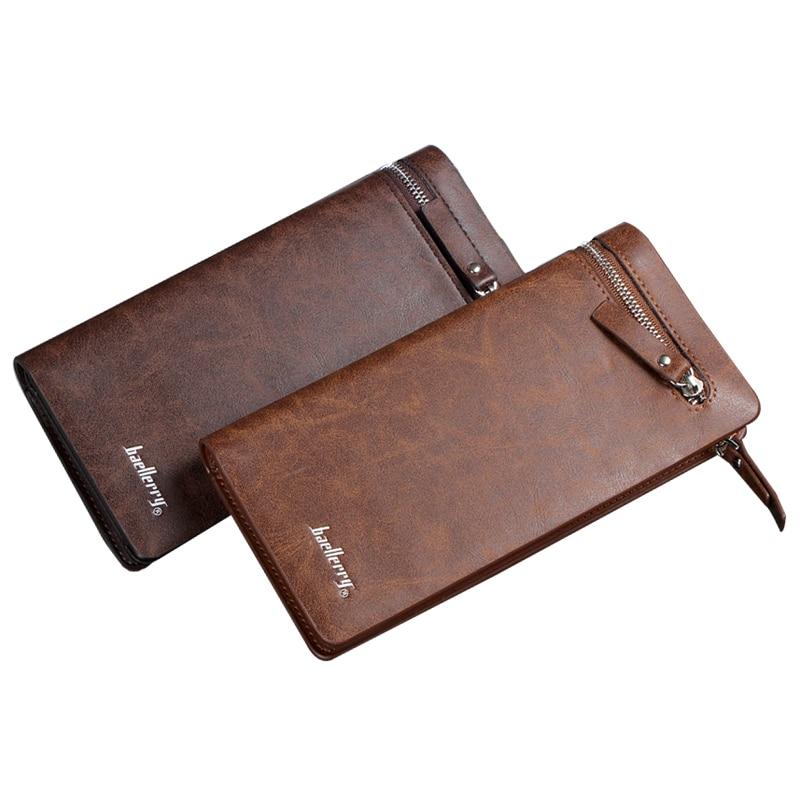 bolsa de couro genuíno dos Estilo : Long Zipper Purse