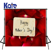 Kate Happy Mothers Day Photography Backdrops Red Rose Wood Background Spring Photography Backdrops Large Size Seamless Photo