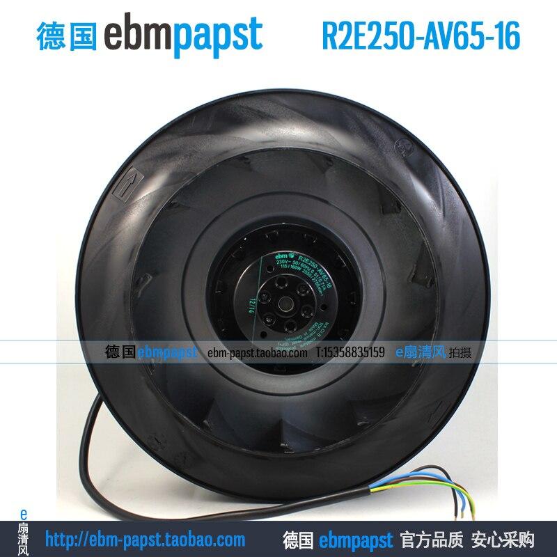 Original new ebmpapst R2E250-AV65-16 AC 230V 0.51A 0.71A 115W 160W 250x250mm Centrifugal fan wilo mvil309 16 e 1 230 50 2