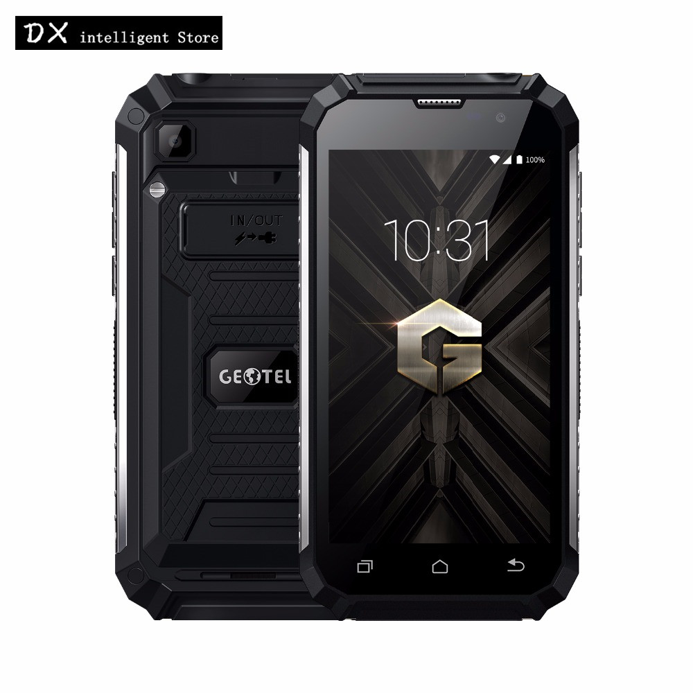 "bilder für Geotel G1 7500 mAh Energienbank Handy MTK6580A Quad Core 5,0 ""HD 2 GB + 16 GB Android 7.0 8MP Taschenlampe GPS WCDMA 3G SmartPhone"