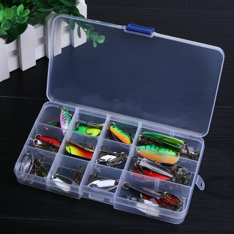 30pcs/set Zinc Alloy Fishing Lures Spinner Baits Spoon Sharp Treble Hooks Tool Outdoor Wobbler Lure Crankbaits Flying Lure 30pcs set fishing lures kits anti beat metal fishing lure colorful crankbaits tackle de pesca hard spoon baits fake baits