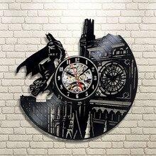 2018 Hot CD Record Wall Clock Modern Vinyl Evolution Dark Knight Wall Watch Classic Clock Relogio De Parede Decorativo