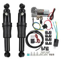 Motorcycle Adjustable Rear Air Ride Suspension Kit For Harley Touring Road King Bagger Electra Street Tour Glide 1994 2018