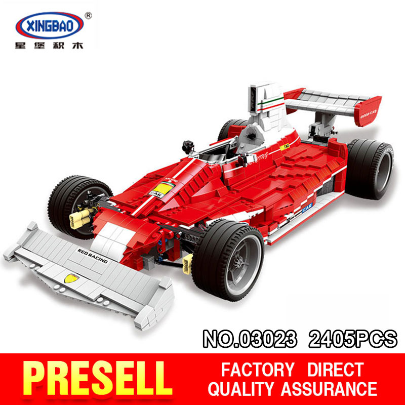 Здесь продается  XingBao 03023 Genuine 2405PCS The Red Racing Car Set Building Blocks Bricks Educational Toys for Children Holiday Gifts XB03023  Игрушки и Хобби