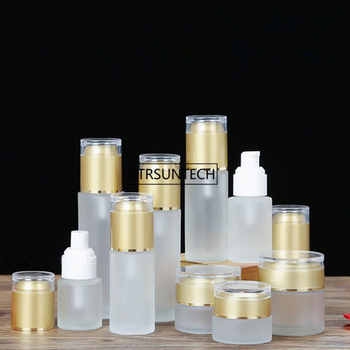50pcs 20/30/50g Cream frosted glass jar, 20/30/40/50ml Frosted glass bottles/essence BB CC Cream essential oils bottle F2360