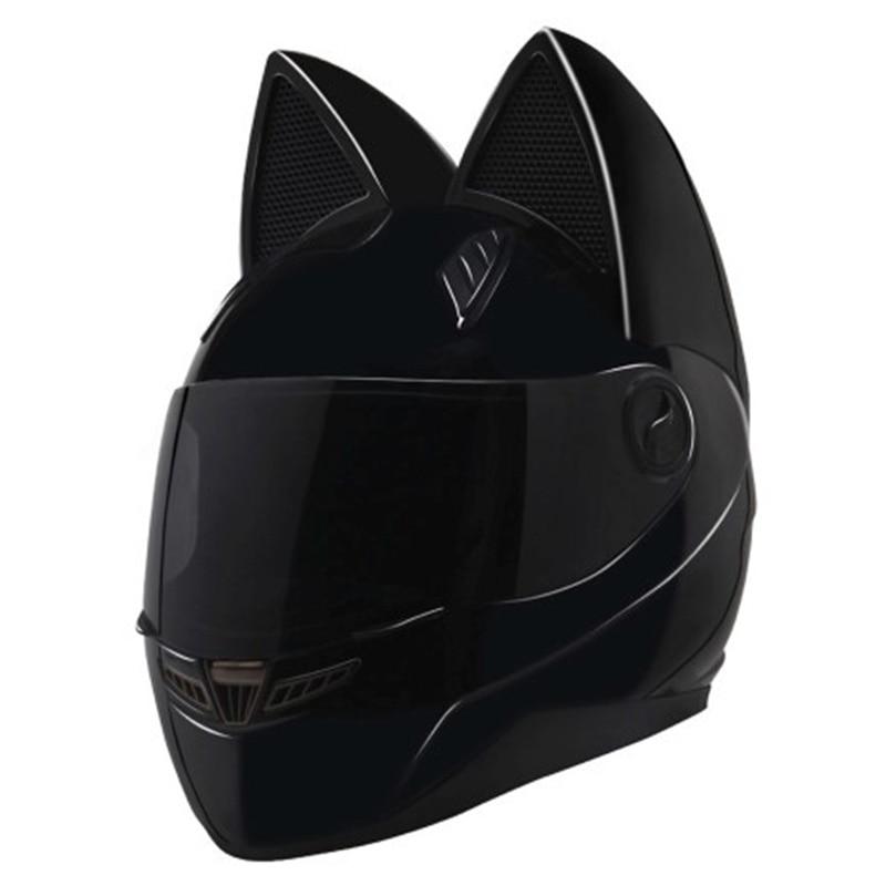 Black Cat Motorcycle Safety Adult helmet motorcross full face helmet casque moto chopper motorcycle cuatrimoto in winter season nolan n86 rapid flat black white full face motorcycle helmet