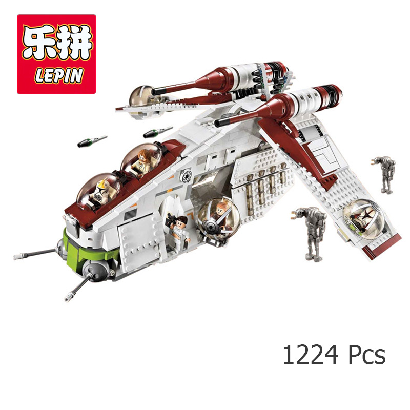 LEPIN 05041 Star Republic Gunship Model Building Kits Blocks Bricks Children Toys Gift Compatible With lego 75021 Wars new 5041 star wars series the the republic gunship building blocks bricks toys compatible with legoingly children model starwars