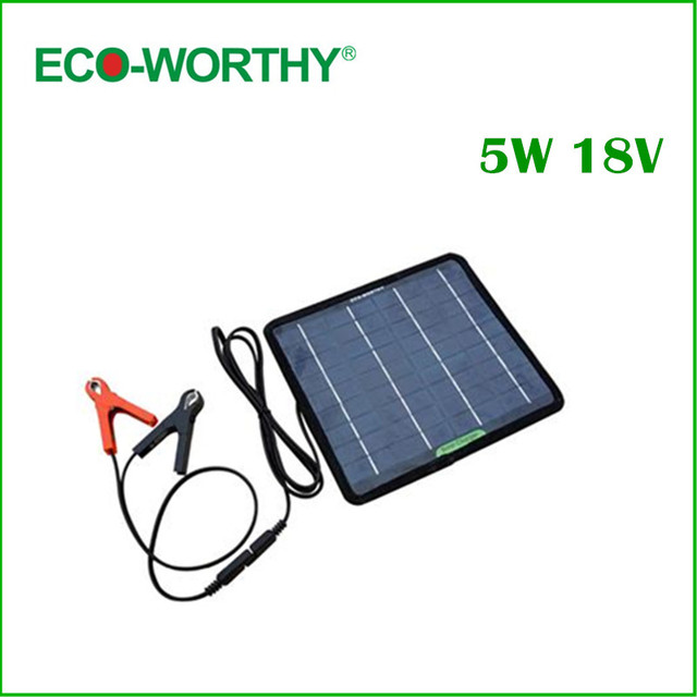 18V 5W Portable Solar Panel Multi-Purpose Solor Charger for Cars Boat Motorcycle Solar Panel Solar Generators