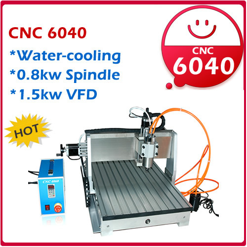 Hot: CNC Router CNC6040/CNC 6040/ CNC 4060/ cnc engraving machine/ 220V&110V drilling/ milling mahcine 800W spindle+1.5kw VFD