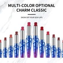 HANDAIYAN Beauty Lips Makeup 12 Colors Lipstick Mirror Surfa