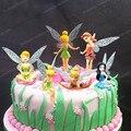 Princesa Bolo Topper 6 pçs/set 3 polegada bonecos voando Tinkerbell Fada funileiro Adorável sino presente do bebê boneca de brinquedo bonito Bolo Topper
