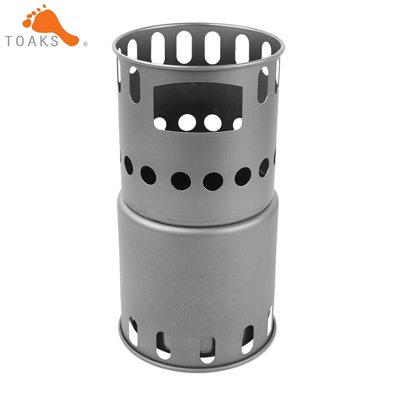 TOAKS Backpacking Titanium Wood Stove Small Size STV-12 Ultralight Portable Titanium Wood Burning Stove only 151g
