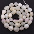 """Free Shipping 5-9x8-12mm Freeform Natural Moonstone For DIY Necklace Bracelat Jewelry Making Spacer Beads 15""""/ Lot"""