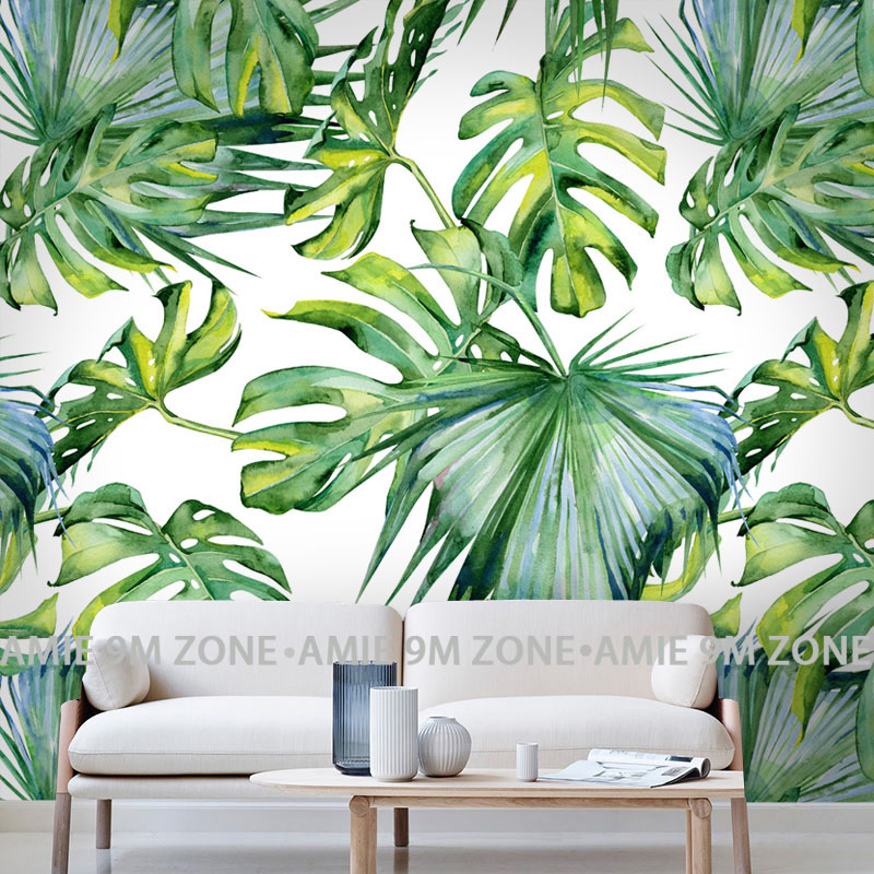 Relief Light green leaf Wallpaper for Living Room Bedroom Mural Wall papers 3D Desktop Background Wallpaper home decor ...