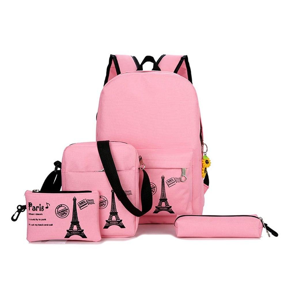 ead7c6cfb3 Canvas Backpack 3 Pcs Set Women School Backpacks Schoolbag For Teenagers  Girls Student Book Bag Boys Satchel Moclila