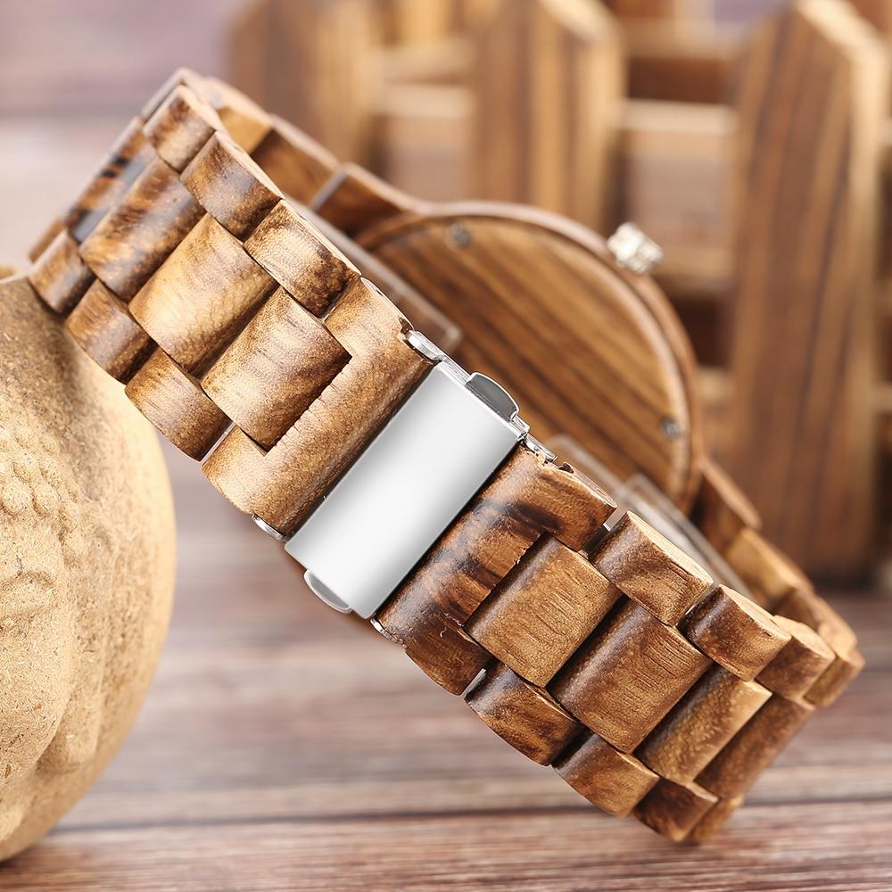 YISUYA Nature Wood Bamboo Watch მამაკაცის - მამაკაცის საათები - ფოტო 4