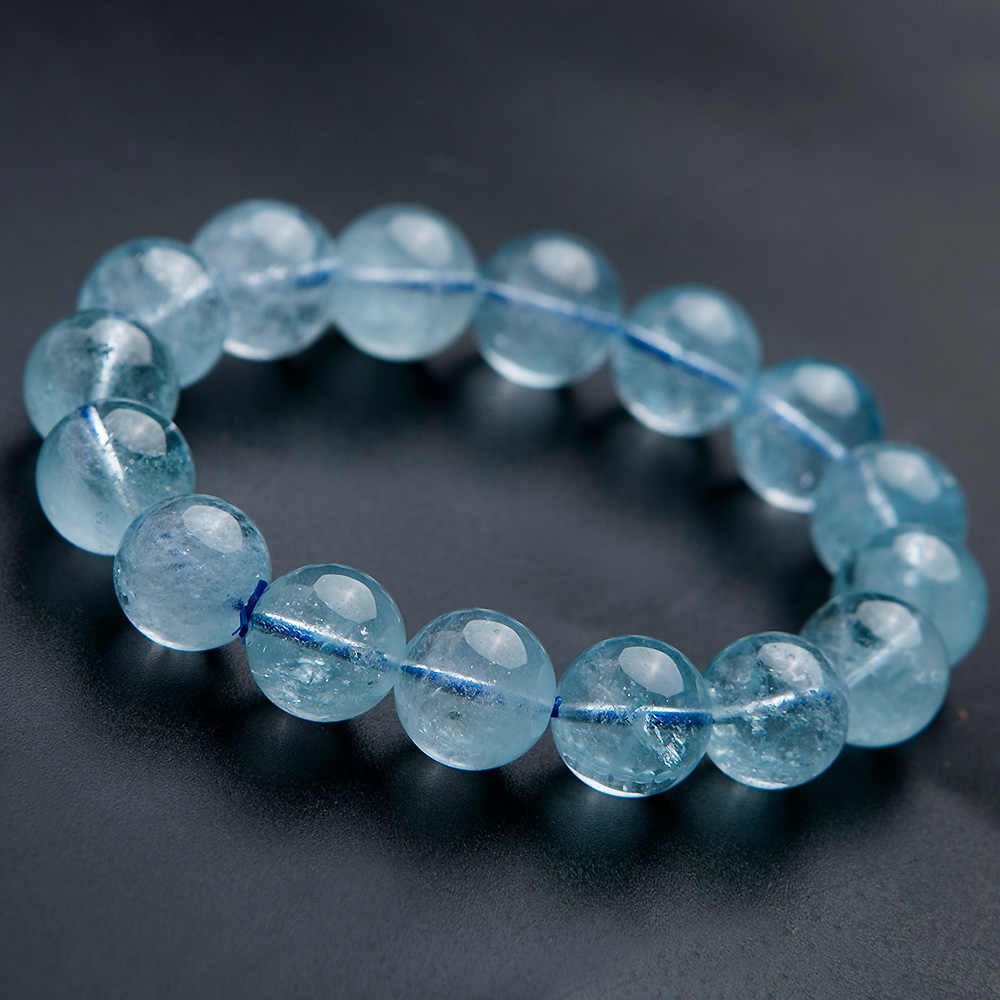 Najwyższa jakość naturalny naturalny topaz niebieski kryształ 12mm jasne kule kobieta mężczyźni Reiki rozciągliwa bransoletka AAAAA kamień leczniczy