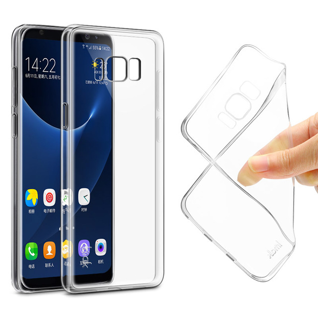 hot sale online 4393e c0607 US $5.99 |For Samsung Galaxy S8 (5.8 inch) IMAK Transparent Clear Soft TPU  Case For Samsung Galaxy S8 Plus (6.2 inch) Silicon Back Cover-in Fitted ...
