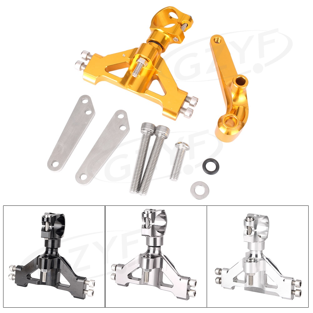 CNC Motorcycle Steering Damper Stabilizer Bracket Mounting Holder Set For Kawasaki Ninja ZX14R ZZR1400 ZX 14R