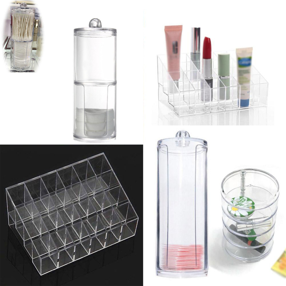 Acrylic Cosmetic Lipstick Organizer Drawer Makeup Case Storage Cotton Pad  Swabs Q tip Holder Jewelry Storage Contain Box-in Storage Boxes & Bins from  Home ...