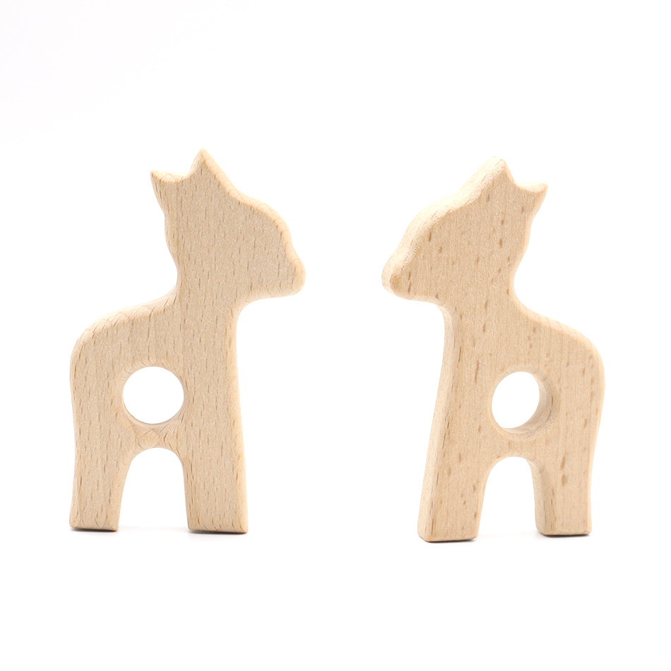 1pcs Pacifier Clip Parts Wooden Teether Nature Baby Teething Grasping Toy DIY Organic Eco-friendly Wood Teething Accessories