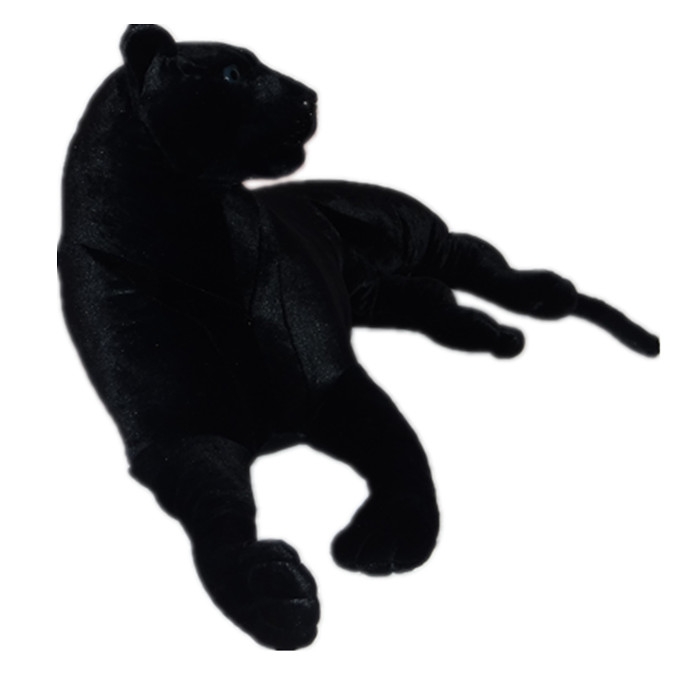 simulation animal large toy black prone panther plush toy ,Christmas gift h255 simulation black