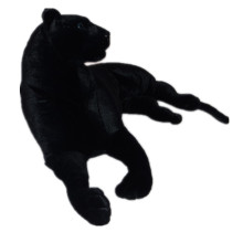 simulation animal large toy black prone panther plush toy ,Christmas gift h255