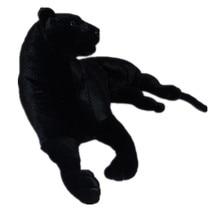 simulation animal large toy black prone panther plush toy ,Christmas gift h255