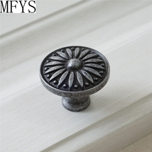 Knobs Dresser Knob Drawer Pulls Handles Antique Silver Black Kitchen Cabinet Door Rustic Vintage Furniture