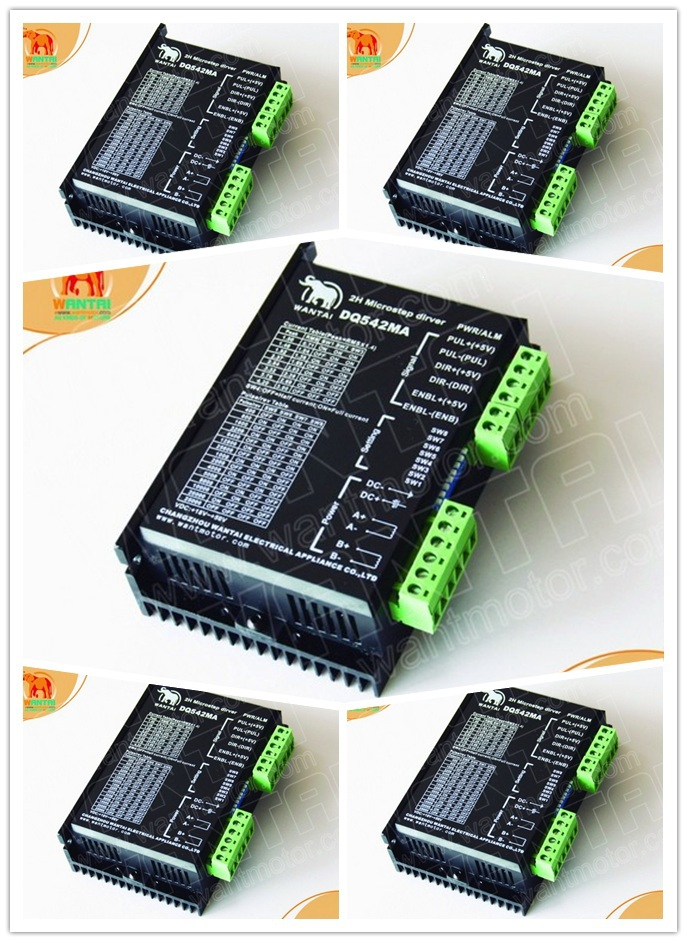 [USA FOR FREE] Wantai 5PCS Stepper Motor Driver DQ860MA 80V 7.8A 256micro CNC Router Mill Cut Engraving Grind Foam Embroidery