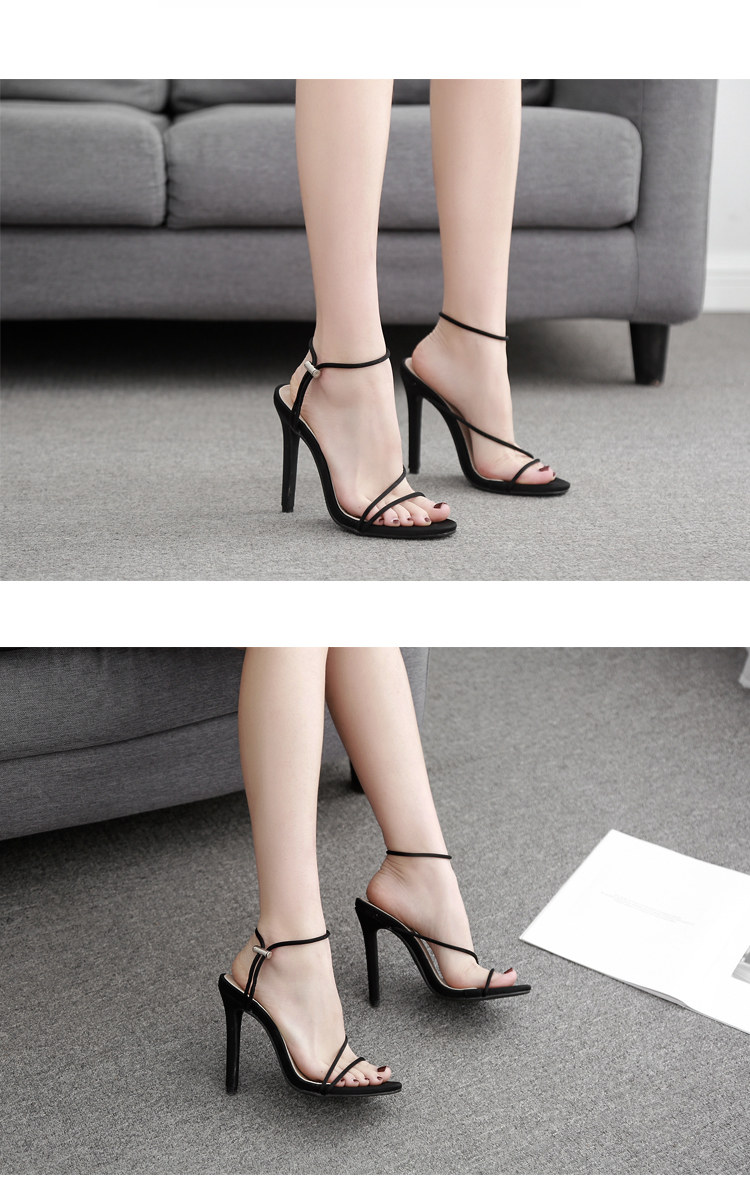 HTB1A0rma0fvK1RjSspoq6zfNpXat Aneikeh 2019 New Fashion Sandals Ankle Strap Cross-Strap Woman Sandals 12CM High Heels Narrow Band Slip-On Sandals Dress Pumps