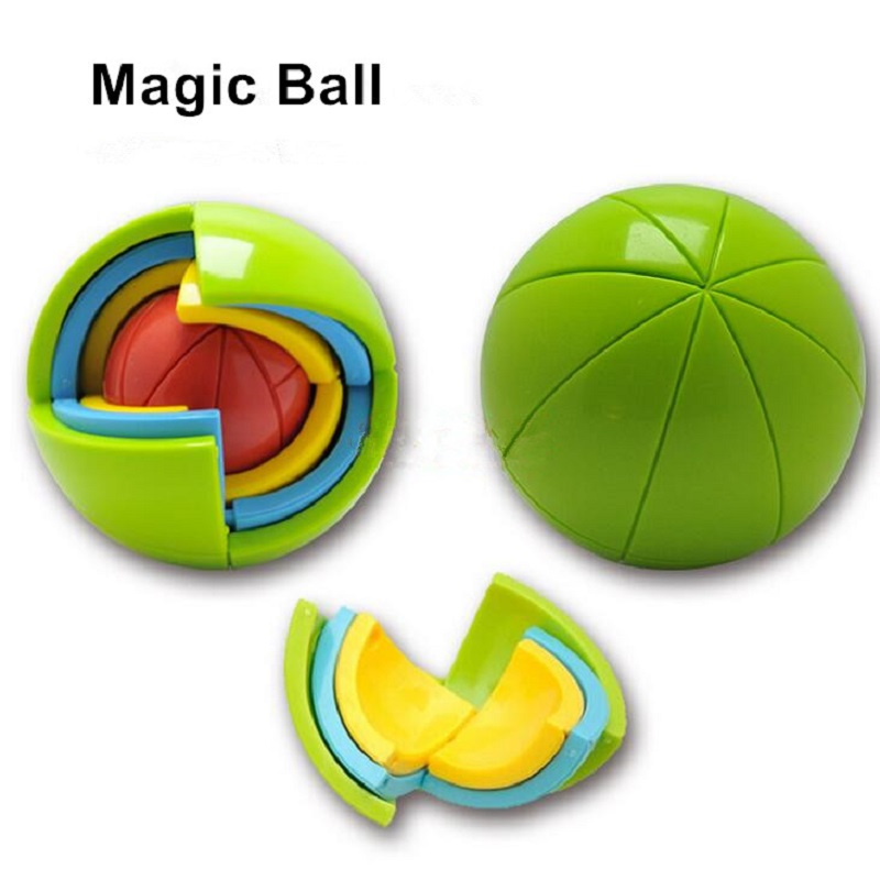2Hot Sale 3D Magic Ball Educational Maze Toys Intellect Cubes Puzzles Intelligence Games For Kids IQ Logical Training