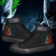 b77fe1f30f63 HOT SALE Classic Film Joker and Batman Dark Knight canvas shoes colours  printing Street fashion flat