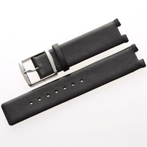 Image 2 - MAIKES New Hot Sales Genuine Calf Leather Watch Band Black Soft Strap Watchband Case For CK Calvin Klein K1S21102 K1S21120
