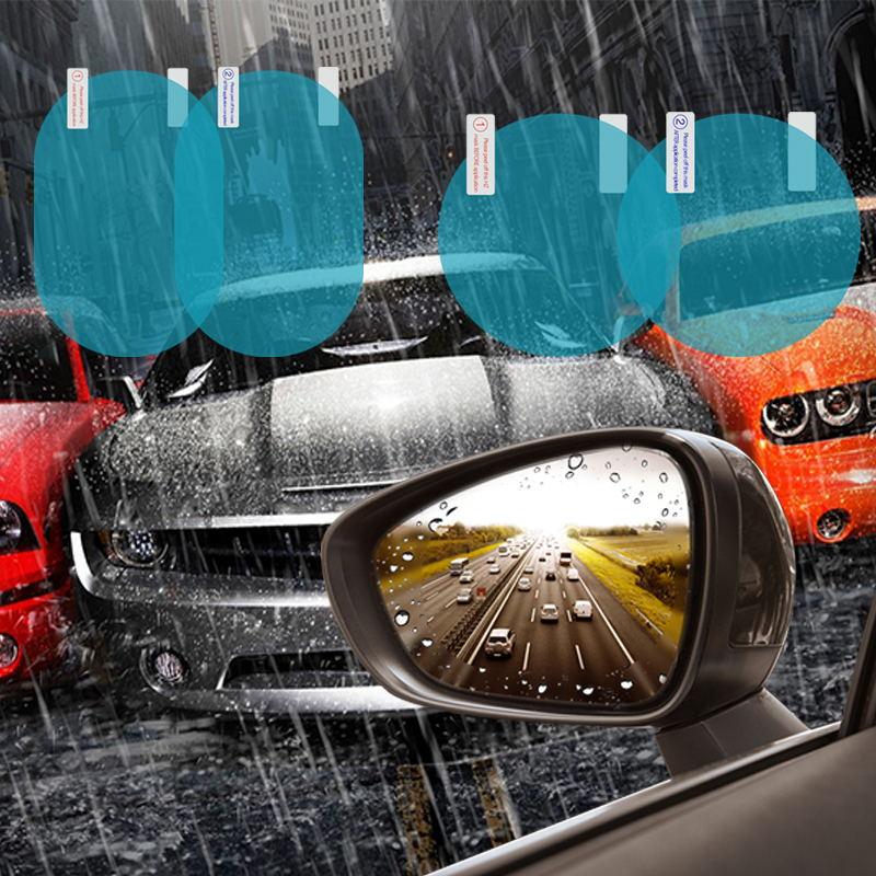 2 шт. Автомобильная зеркальная защитная пленка заднего вида, противотуманная, на окно, прозрачная, непромокаемая, на зеркало заднего вида, Защитная мягкая пленка, авто аксессуары-in Оконные мембраны from Автомобили и мотоциклы