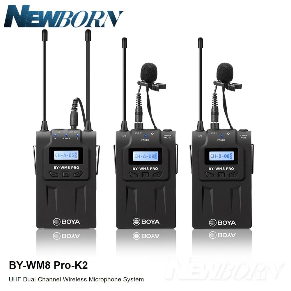 BOYA BY-WM8 Pro micro condenseur sans fil micro système Audio enregistreur vidéo récepteur pour Canon Nikon Sony DSLR appareil photo