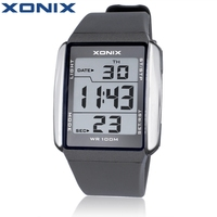 XONIX Men Sports Watches Waterproof 100m Outdoor Fun Multifunction Digital Watch Swimming Running LED Wristwatch Montre