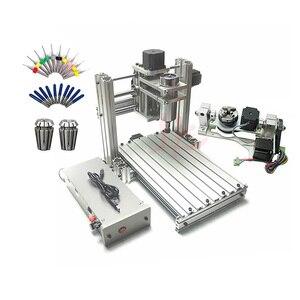 Image 1 - 3 4 5 axis aluminium mini cnc router machine voor hout reliëf embossment pcb pvc DIY frezen boren graveren bal schroef USB